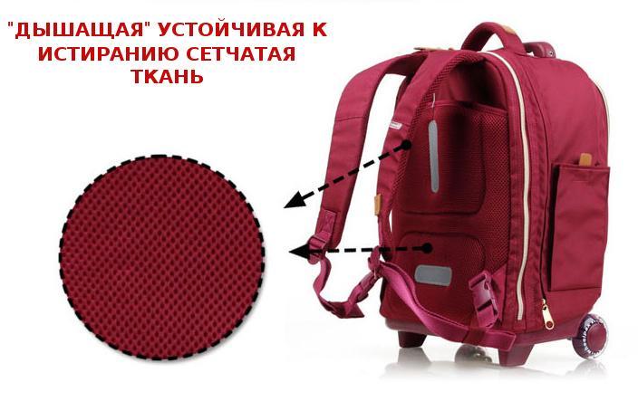 Школьный рюкзак на колесах - ранец Wheelpak Classic Wine - арт. WLP2200 (для 3-5 класса, 21 литр), - фото 8
