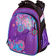 Школьный ранец Hummingbird T80 фиолетовый с розовым цветком