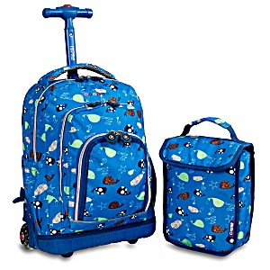 Школьный рюкзак на колесах JWORLD LOLLIPOP цвет Морская Жизнь