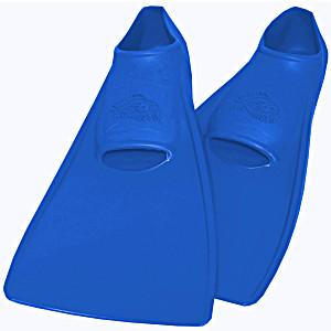 Ласты SwimSafe детские закрытая пятка для бассейна резиновые размер – 22 синие СВИМСЕЙФ Германия